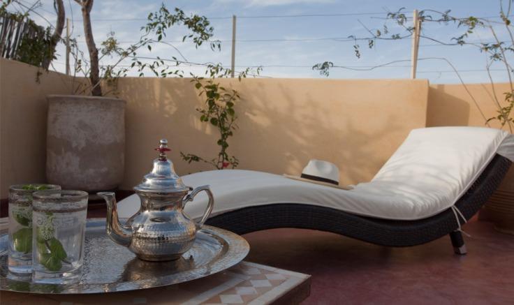 relax sul terrazzo riad marocco